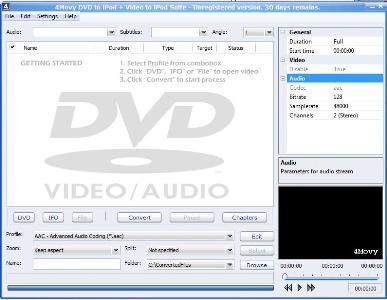 4Movy DVD to iPod + Video to iPod Suite Screenshot 1