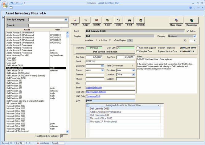 Asset Inventory Plus Screenshot