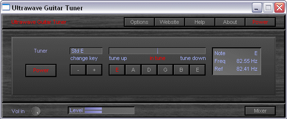 Ultrawave Guitar Tuner Screenshot