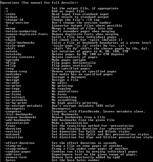 Coherent PDF Command Line Tools Screenshot