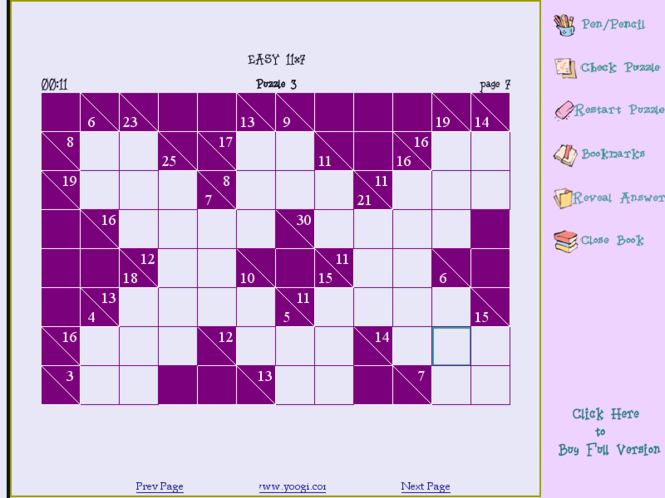 Kakuro SoftBook Screenshot