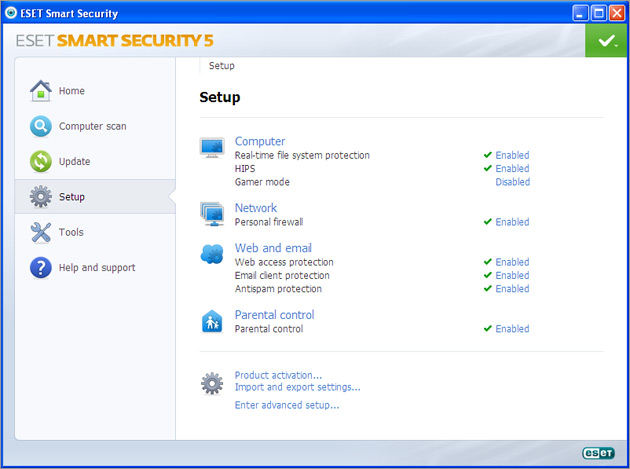 ESET Smart Security Screenshot 1