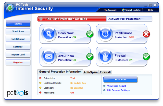 PC Tools Internet Security Screenshot 1