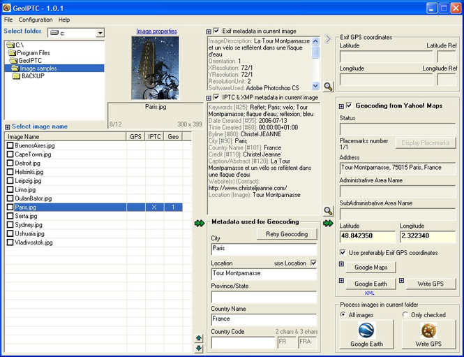 GeoIPTC Screenshot