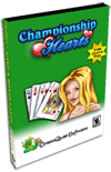Championship Hearts Pro Card Game for Windows Screenshot 1
