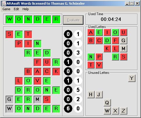 ARAsoft Wordz Screenshot