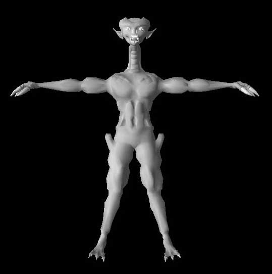 "3DCreatureCharacter ""SpaceAlien"" in 3ds, dxf and obj format Screenshot"