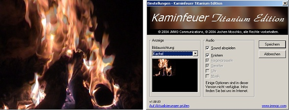 Kaminfeuer Titanium Edition Screenshot