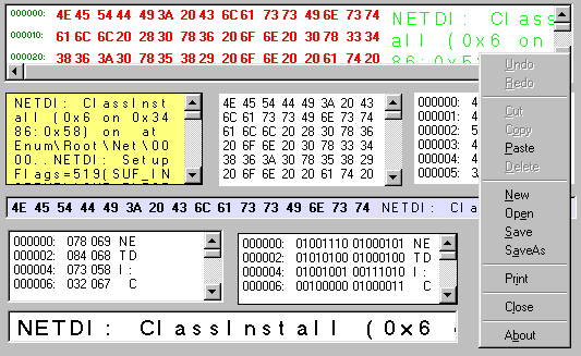 Extended Hex Editor Control Screenshot