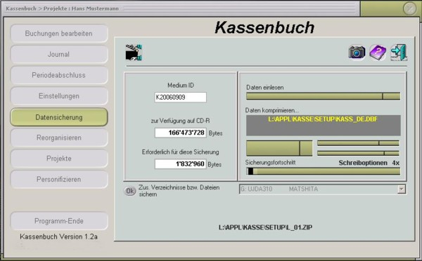 Cashbook Kassenbuch Kasboek Screenshot