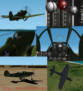 P39K Airacobra aircraft for CFS2 Screenshot