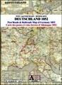 Post- und Eisenbahn-Reisekarte Deutschland, 1852 Screenshot
