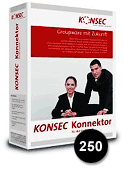 K051 KONSEC Konnektor 250 User Pack incl. one year Software Maintenance Screenshot