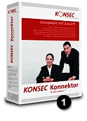 K013 KONSEC Konnektor 1 user incl. three years Software Maintenance Screenshot
