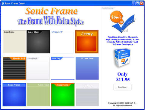 Sonic Frame Control Screenshot 1