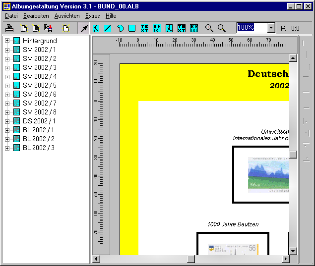 Albumgestaltung AG2002 Screenshot