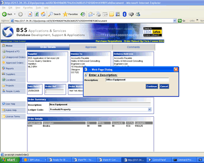 Purchase Order Tracking Per End User License Screenshot