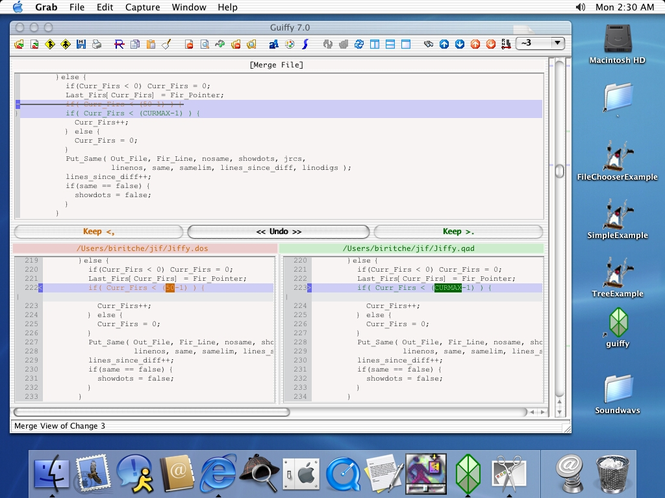 Guiffy SureMerge (MacOS X) Screenshot