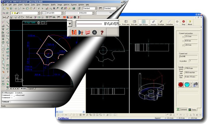 progeCAM 2010 IntelliCAD CNC Software Screenshot