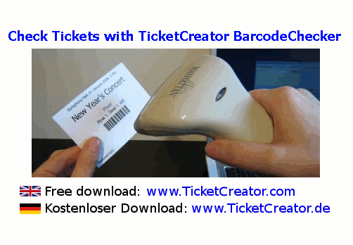 BarcodeChecker - Check Tickets Screenshot 1
