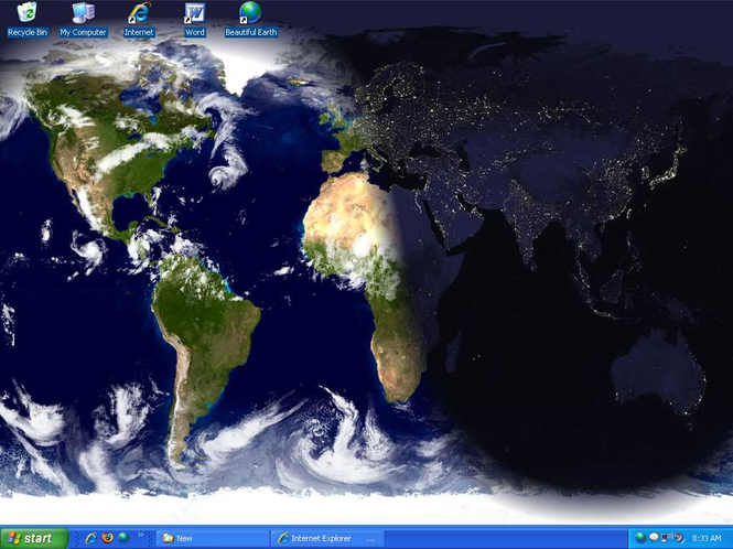 Beautiful Desktop Earth Wallpaper Screen Saver Screenshot