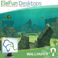 UnderWater Ruins - Animated Wallpaper Screenshot 1