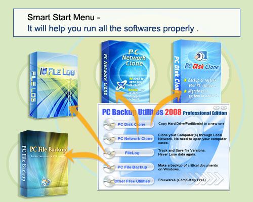PC Backup Utilities 2008 Home 05.10 Screenshot 1