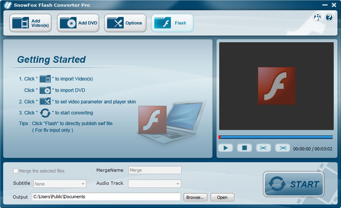 SnowFox Flash Converter Pro Screenshot
