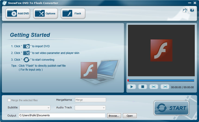 SnowFox DVD to Flash Converter Screenshot 1