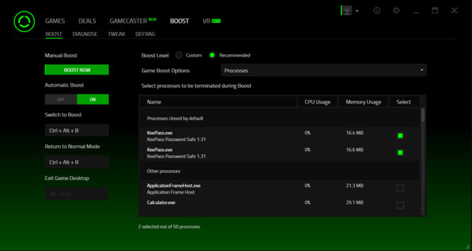 Razer Cortex Screenshot