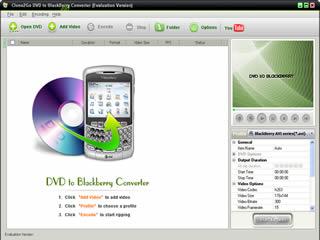 Clone2Go DVD to BlackBerry Converter Screenshot
