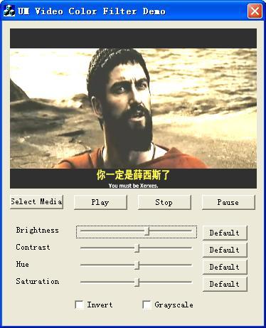 UM Video Color Directshow filter Screenshot 1