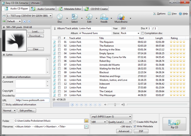 Easy CD-DA Extractor Screenshot 1