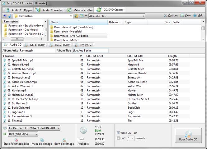 Easy CD-DA Extractor Screenshot 3