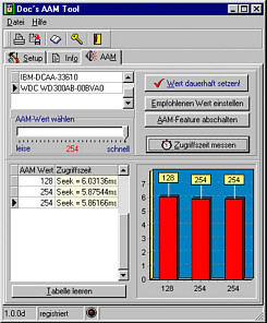 Doc`s AAM Tool Screenshot