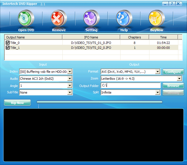 Intertech DVD Ripper Pro Screenshot