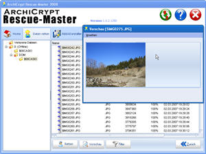 ArchiCrypt Rescue-Master Screenshot