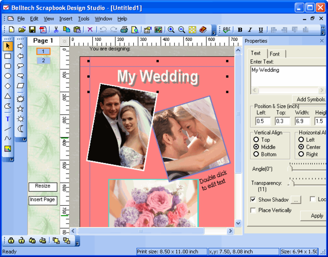 Scrapbook Design Studio Screenshot