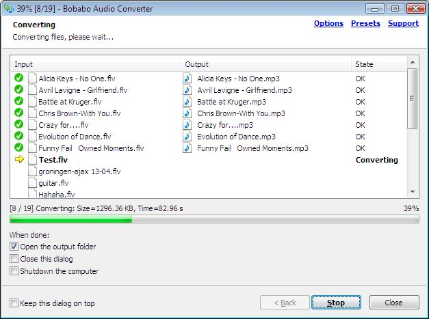 Bobabo Audio Converter Screenshot 2