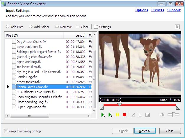 Bobabo Video Converter Screenshot
