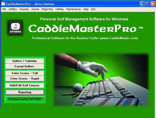 CaddieMaster Golf Handicap Software Screenshot