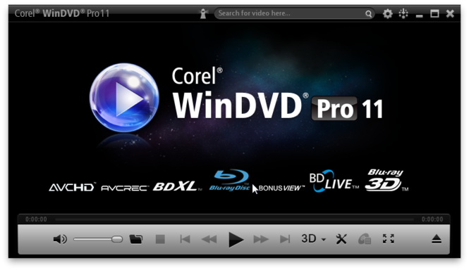 WinDVD Pro Screenshot