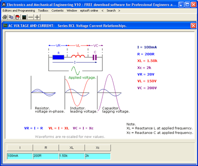 Electronics and Mechanics Screenshot