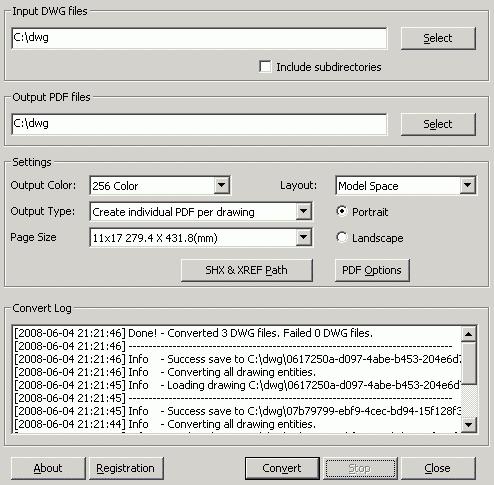 OverCAD DWG TO PDF Screenshot