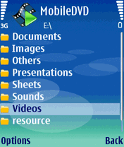 MobileDVD (S60 3rd) Screenshot