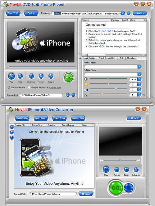 Movkit iPhone Suite Screenshot 1
