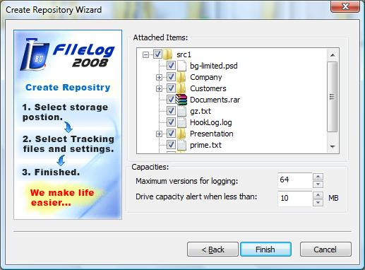 FileLog 2008 v1.4.0 Screenshot