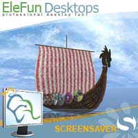 Viking Boat - Animated Screensaver Screenshot