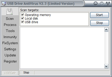 USB Drive Antivirus Screenshot