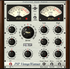PSP VintageWarmer for Mac (AudioUnit/VST/RTAS version) Screenshot 1